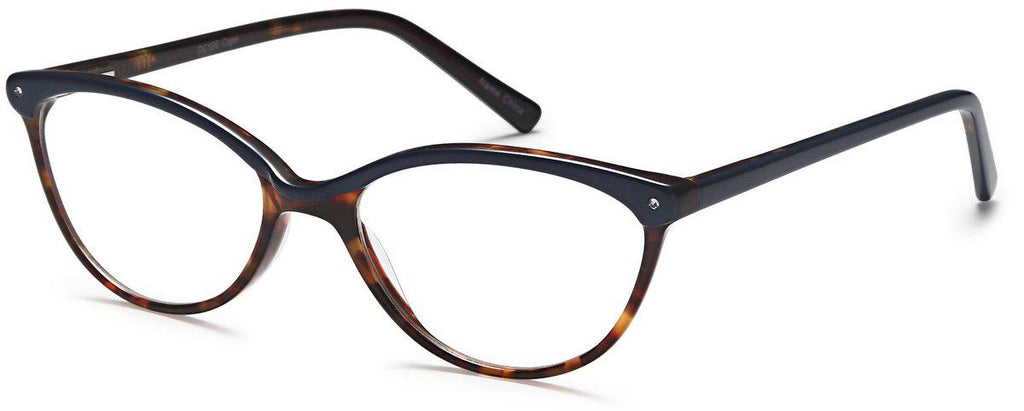 Blue-Trendy Cat Eye DC 166 Frame-Prescription Glasses-Eyeglass Factory Outlet