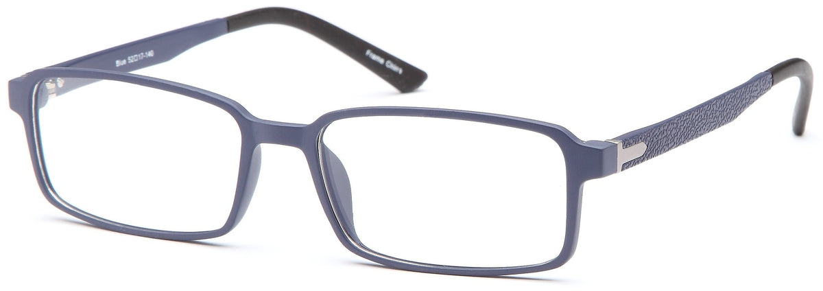 Blue-Trendy Rectangular Adam Frame-Prescription Glasses-Eyeglass Factory Outlet