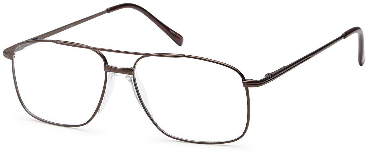 Brown-Classic Aviator PT 91 Frame-Prescription Glasses-Eyeglass Factory Outlet