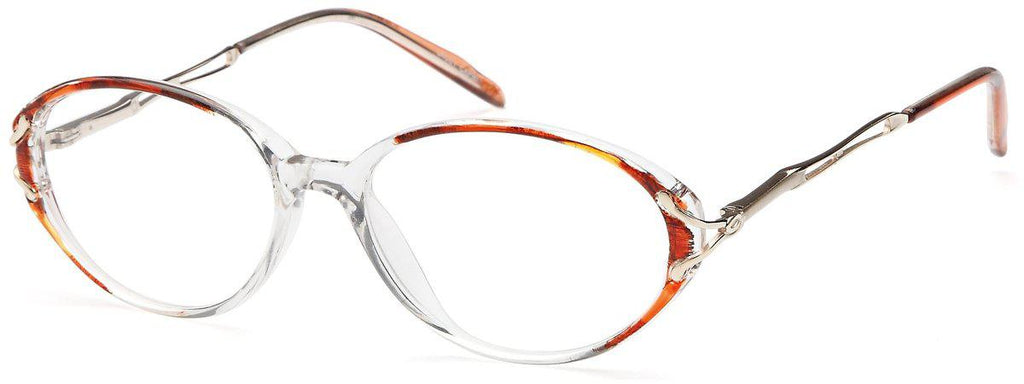 Brown-Classic Oval Lacey Frame-Prescription Glasses-Eyeglass Factory Outlet