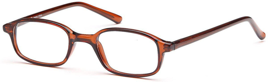 Brown-Classic Oval U 19 Frame-Prescription Glasses-Eyeglass Factory Outlet