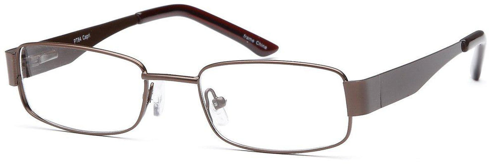 Brown-Classic Rectangular PT 84 Frame-Prescription Glasses-Eyeglass Factory Outlet