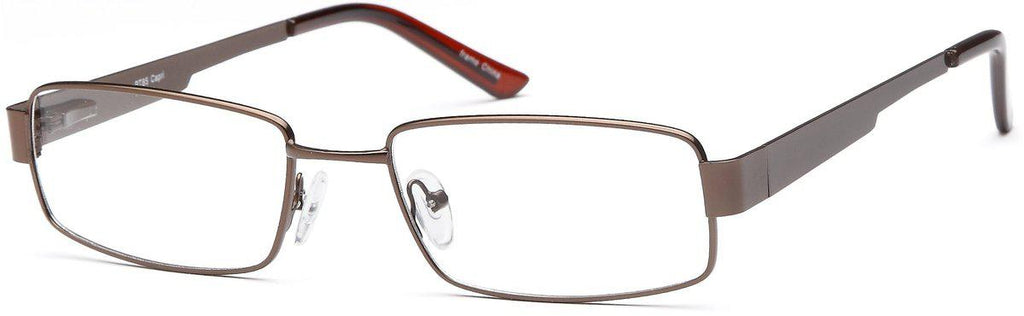 Brown-Classic Rectangular PT 85 Frame-Prescription Glasses-Eyeglass Factory Outlet