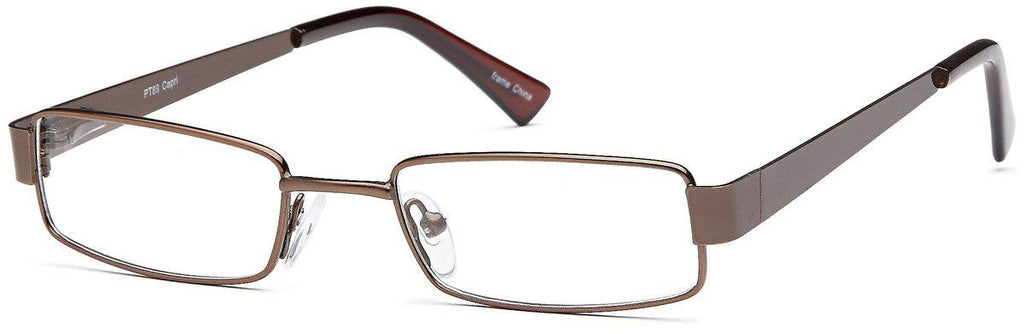 Brown-Classic Rectangular PT 89 Frame-Prescription Glasses-Eyeglass Factory Outlet