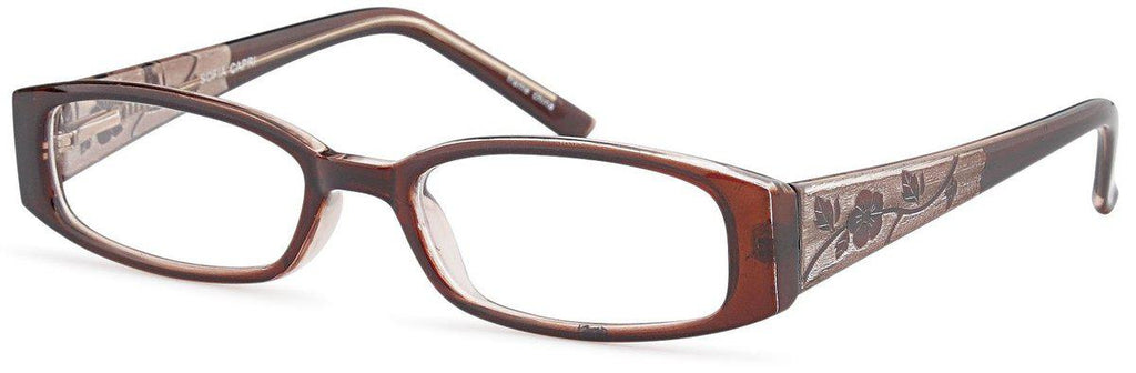 Brown-Classic Rectangular Sofia Frame-Prescription Glasses-Eyeglass Factory Outlet