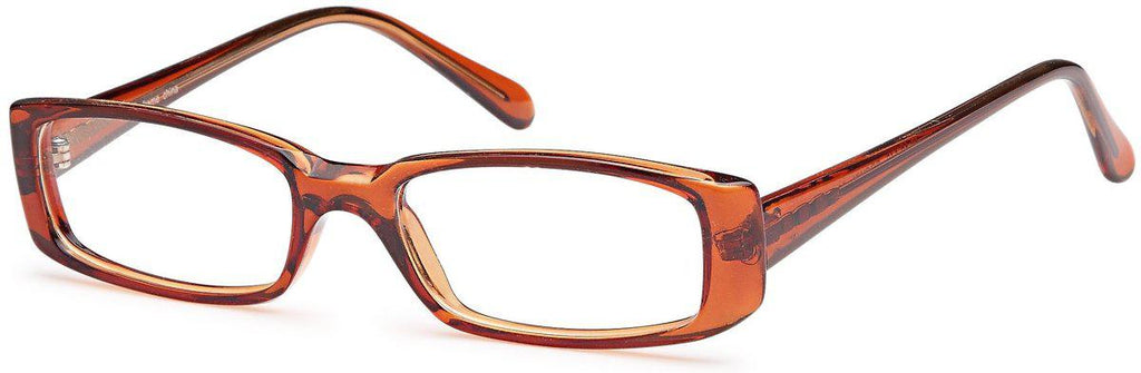 Brown-Classic Rectangular U 14 Frame-Prescription Glasses-Eyeglass Factory Outlet