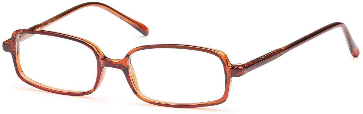 Brown-Classic Rectangular U 28 Frame-Prescription Glasses-Eyeglass Factory Outlet