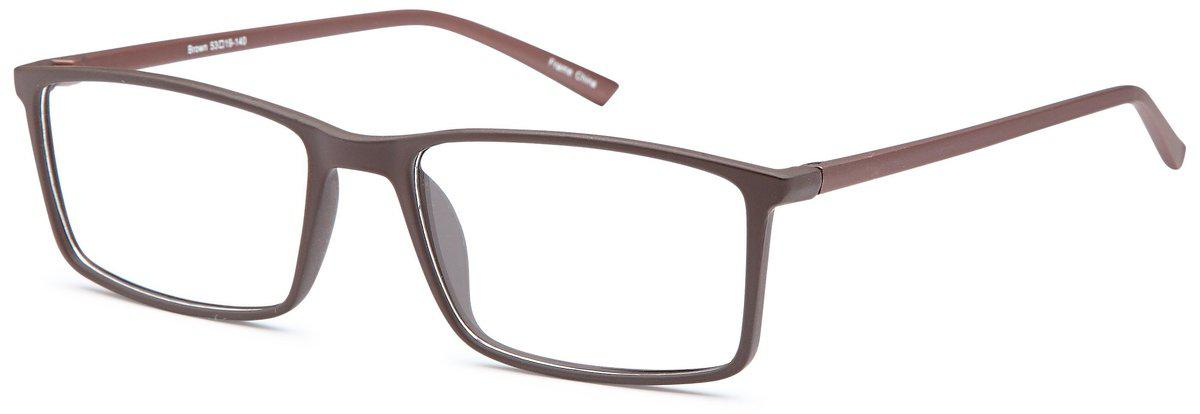Brown-Classic Square Ethan Frame-Prescription Glasses-Eyeglass Factory Outlet