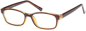 Brown-Classic Square U 201 Frame-Prescription Glasses-Eyeglass Factory Outlet
