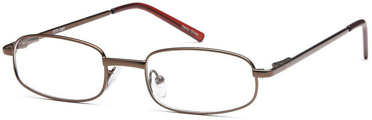 Gunmetal-Modern Oval PT 79 Frame-Prescription Glasses-Eyeglass Factory Outlet