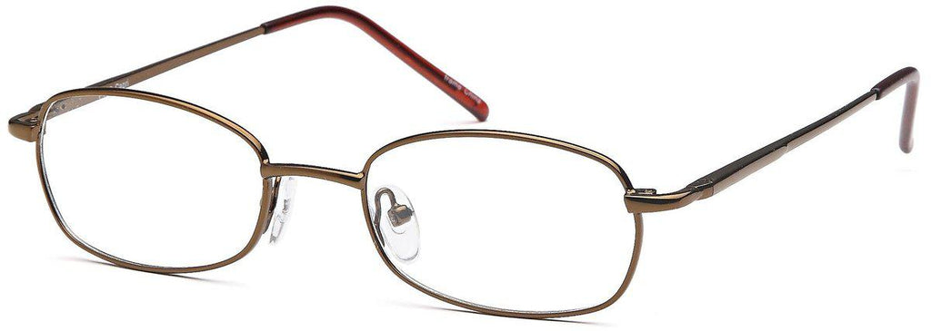 Brown-Modern Oval PT 80 Frame-Prescription Glasses-Eyeglass Factory Outlet