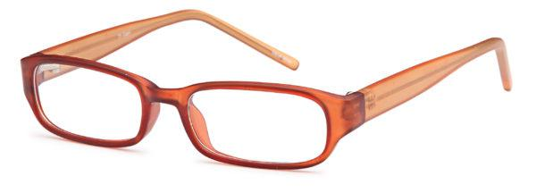 Brown-Modern Oval T 1 Frame-Prescription Glasses-Eyeglass Factory Outlet