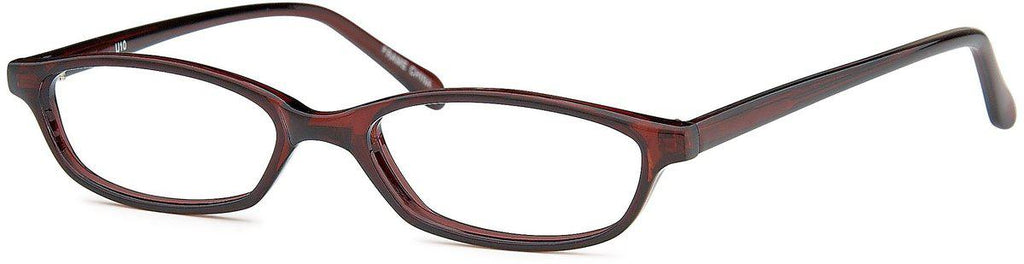 Brown-Modern Oval U 10 Frame-Prescription Glasses-Eyeglass Factory Outlet