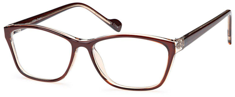 Black-Modern Oval U 204 Frame-Prescription Glasses-Eyeglass Factory Outlet