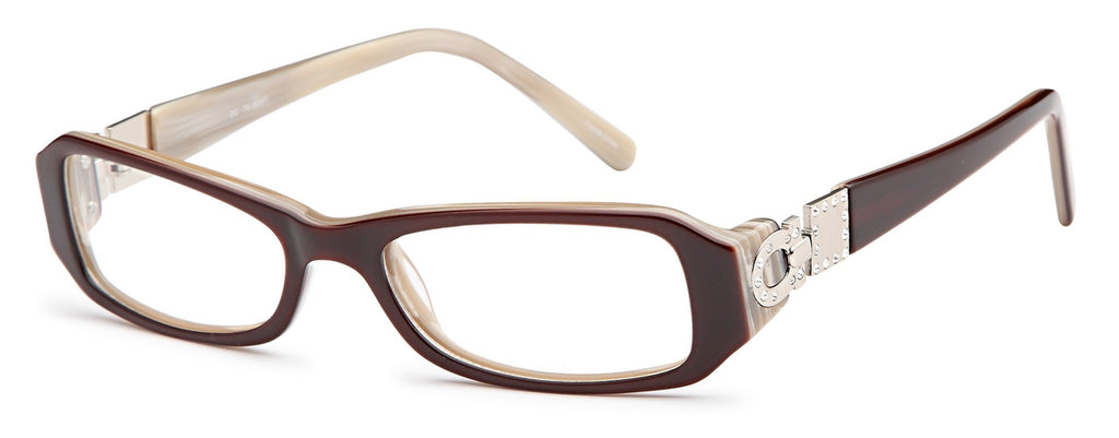 Brown-Modern Rectangular DC 74 Frame-Prescription Glasses-Eyeglass Factory Outlet