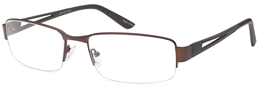 Brown-Modern Rectangular GR 802 Frame-Prescription Glasses-Eyeglass Factory Outlet