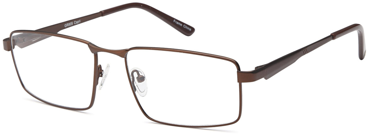 Brown-Modern Rectangular GR 805 Frame-Prescription Glasses-Eyeglass Factory Outlet
