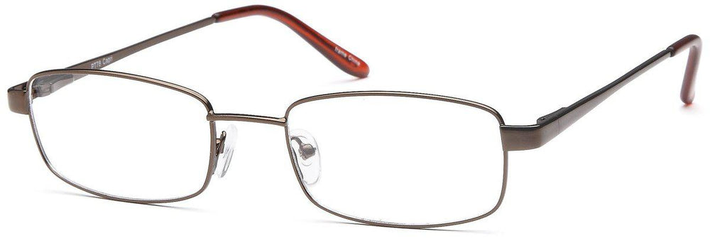 Brown-Modern Rectangular PT 78 Frame-Prescription Glasses-Eyeglass Factory Outlet