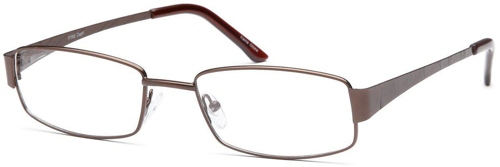 Brown-Modern Rectangular PT 88 Frame-Prescription Glasses-Eyeglass Factory Outlet