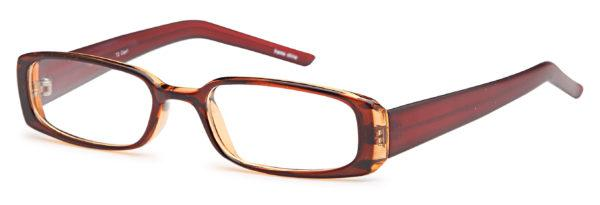 Brown-Modern Rectangular T 2 Frame-Prescription Glasses-Eyeglass Factory Outlet