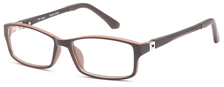 Brown-Modern Rectangular T 30 Frame-Prescription Glasses-Eyeglass Factory Outlet