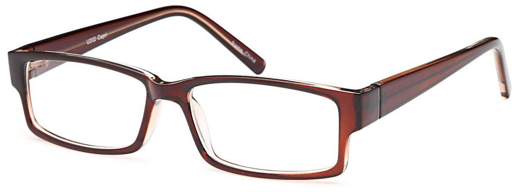 Brown-Modern Rectangular U 202 Frame-Prescription Glasses-Eyeglass Factory Outlet