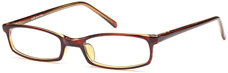 Burgundy-Modern Rectangular U 42 Frame-Prescription Glasses-Eyeglass Factory Outlet
