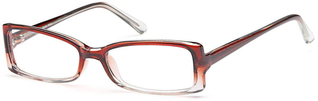 Brown-Modern Rectangular US 58 Frame-Prescription Glasses-Eyeglass Factory Outlet