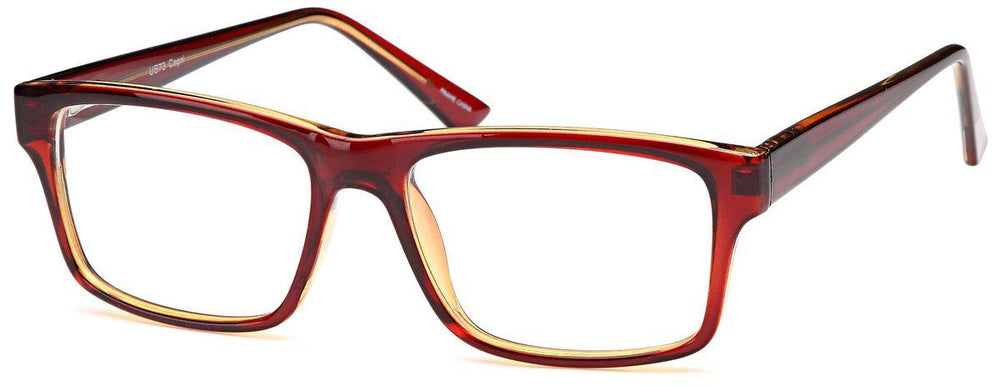 Brown-Modern Rectangular US 73 Frame-Prescription Glasses-Eyeglass Factory Outlet
