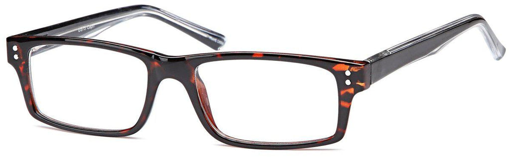 Brown-Modern Rectangular US 75 Frame-Prescription Glasses-Eyeglass Factory Outlet