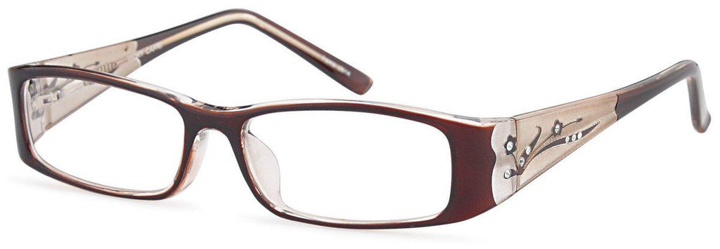 Brown-Modern Rectangular Vicky Frame-Prescription Glasses-Eyeglass Factory Outlet
