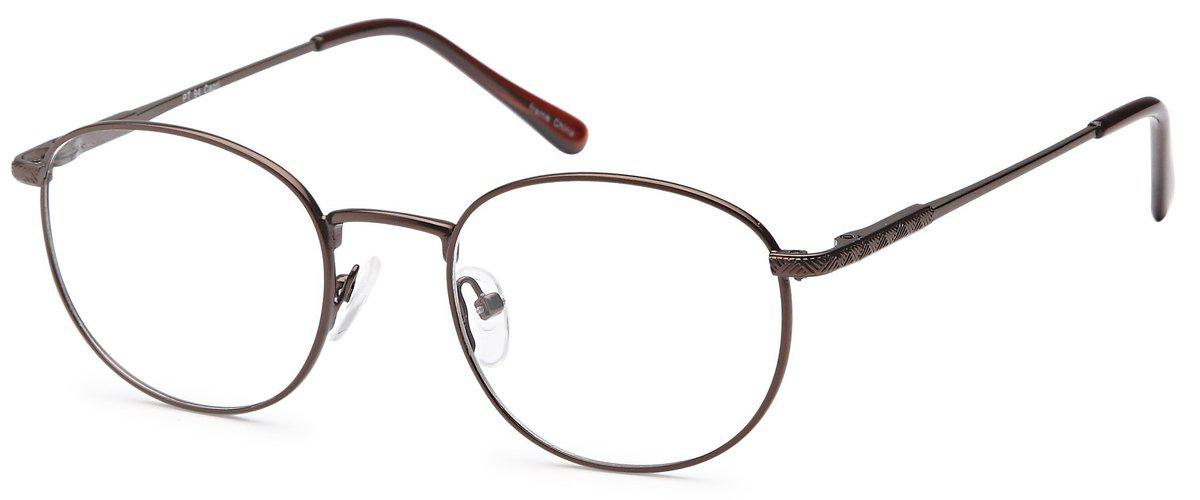 Brown-Modern Round PT 94 Frame-Prescription Glasses-Eyeglass Factory Outlet