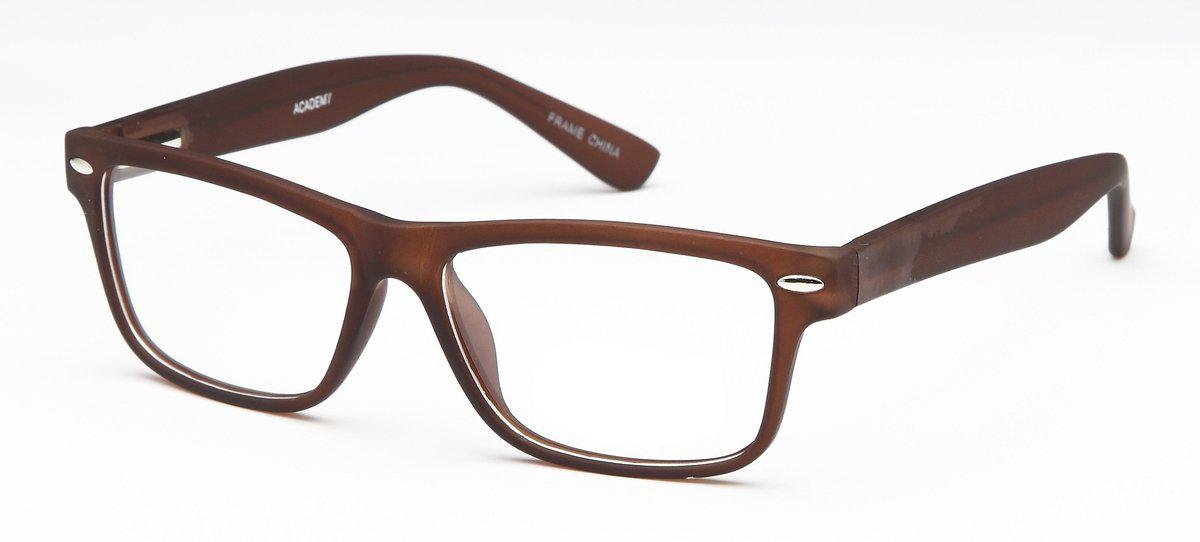 Brown-Modern Square Academy Frame-Prescription Glasses-Eyeglass Factory Outlet