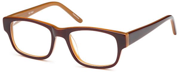 Brown-Modern Square T 24 Frame-Prescription Glasses-Eyeglass Factory Outlet