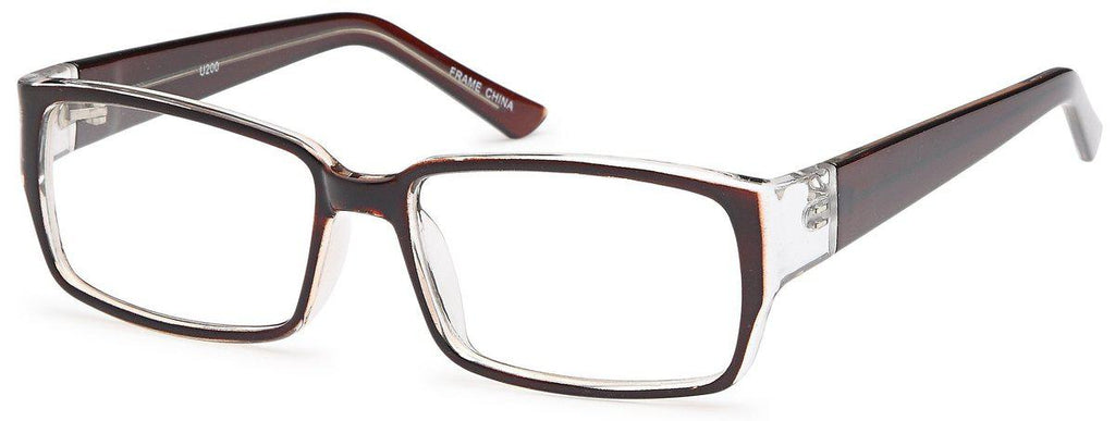 Brown-Modern Square U 200 Frame-Prescription Glasses-Eyeglass Factory Outlet
