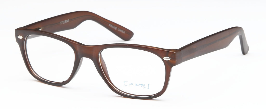 Brown-Modern Wayfarer Student Frame-Prescription Glasses-Eyeglass Factory Outlet