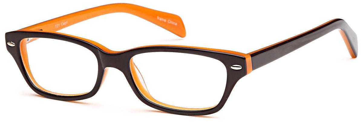 Brown-Modern Wayfarer T 21 Frame-Prescription Glasses-Eyeglass Factory Outlet