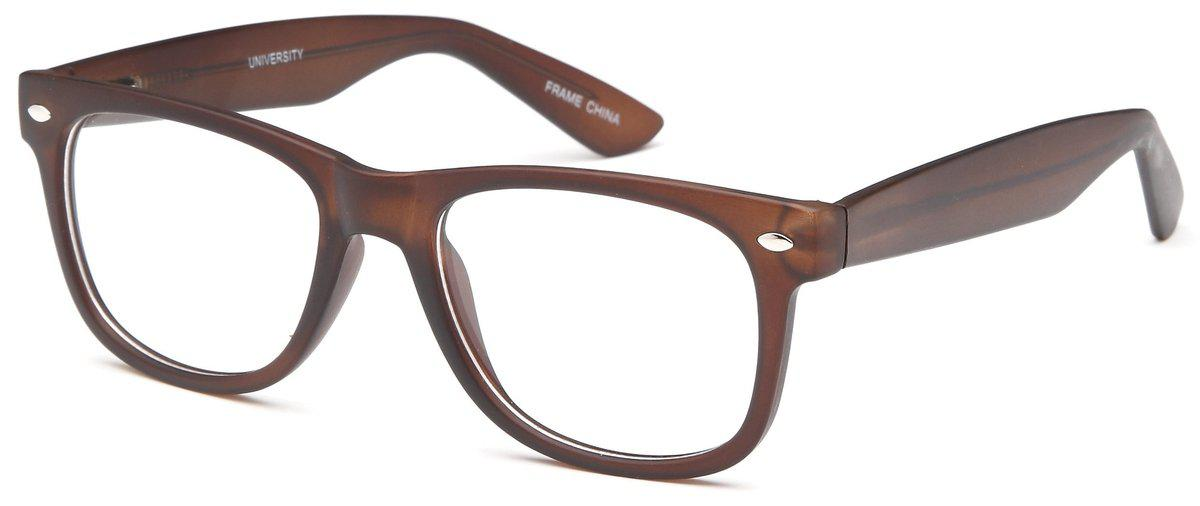 Brown-Modern Wayfarer University Frame-Prescription Glasses-Eyeglass Factory Outlet
