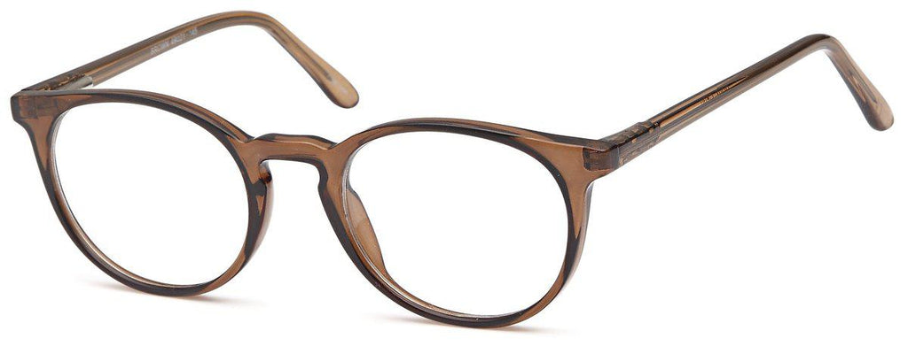Brown-Retro Oval US 82 Frame-Prescription Glasses-Eyeglass Factory Outlet