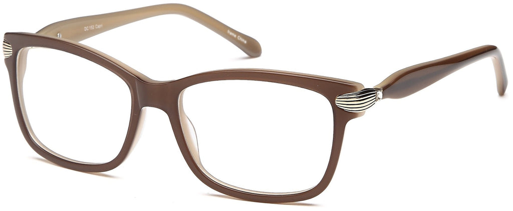 Brown-Trendy Cat Eye DC 152 Frame-Prescription Glasses-Eyeglass Factory Outlet
