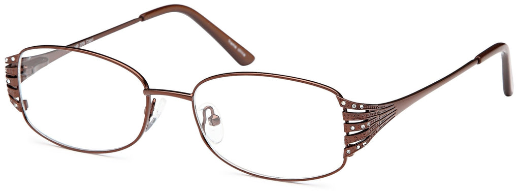 Brown-Trendy Oval VP 209 Frame-Prescription Glasses-Eyeglass Factory Outlet
