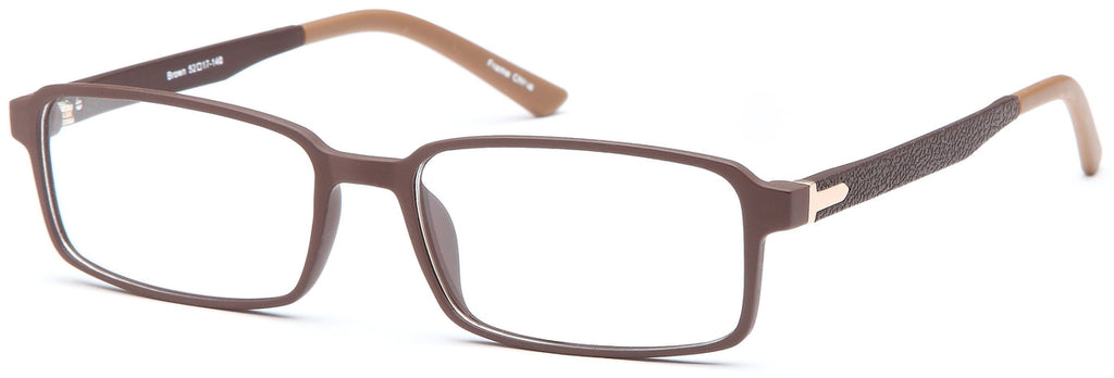 Brown-Trendy Rectangular Adam Frame-Prescription Glasses-Eyeglass Factory Outlet