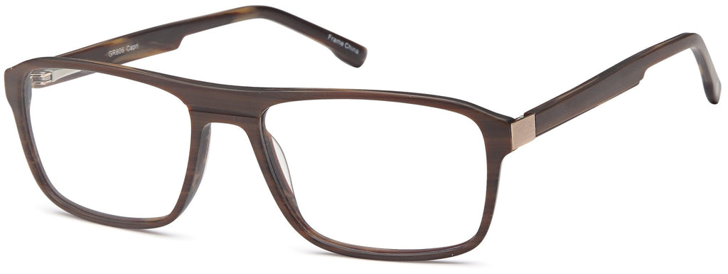 Brown-Trendy Rectangular GR 806 Frame-Prescription Glasses-Eyeglass Factory Outlet