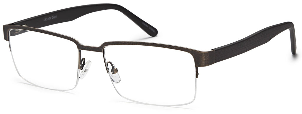 Brown-Trendy Rectangular GR 809 Frame-Prescription Glasses-Eyeglass Factory Outlet