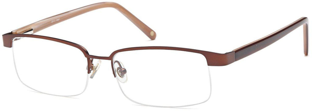 Brown-Trendy Rectangular VP 111 Frames-Prescription Glasses-Eyeglass Factory Outlet