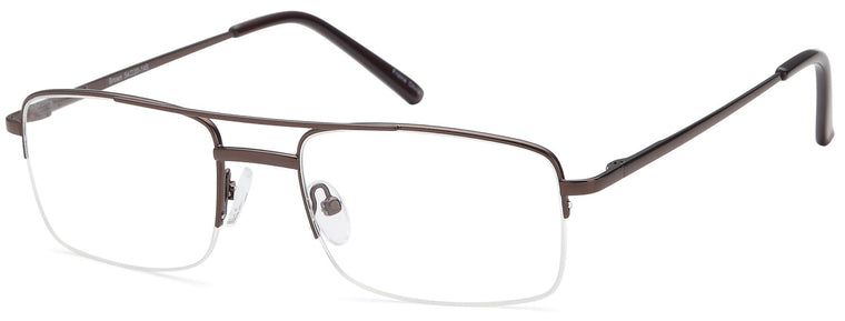 Brown-Trendy Rectangular VP 134 Frames-Prescription Glasses-Eyeglass Factory Outlet