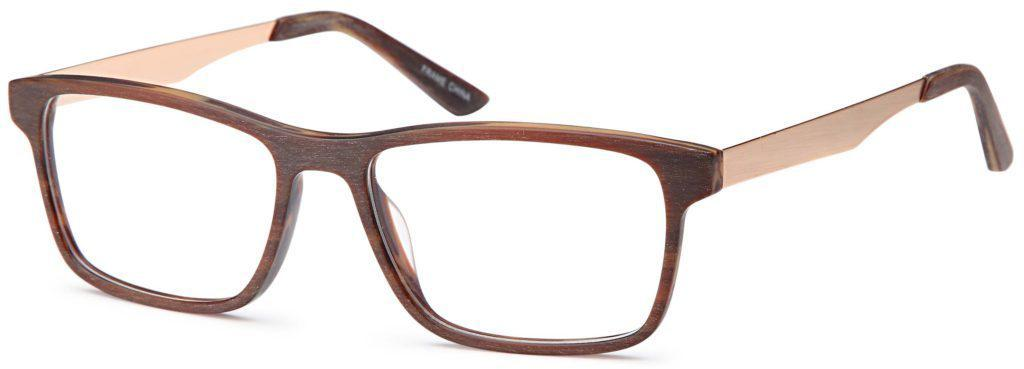 Brown-Trendy Square DC 315 Frame-Prescription Glasses-Eyeglass Factory Outlet