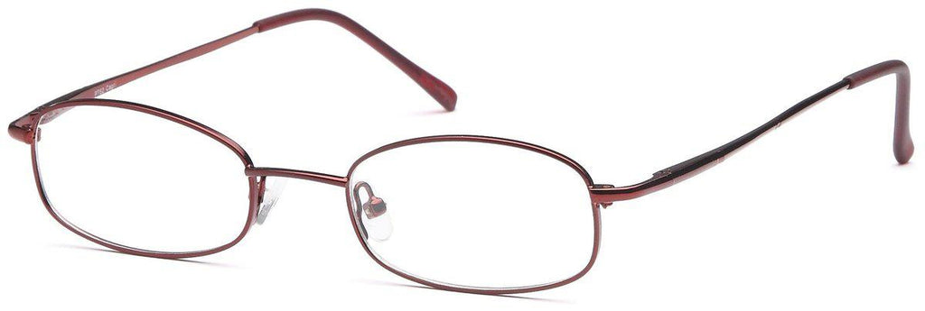 Burgundy-Classic Oval PT 62 Frame-Prescription Glasses-Eyeglass Factory Outlet
