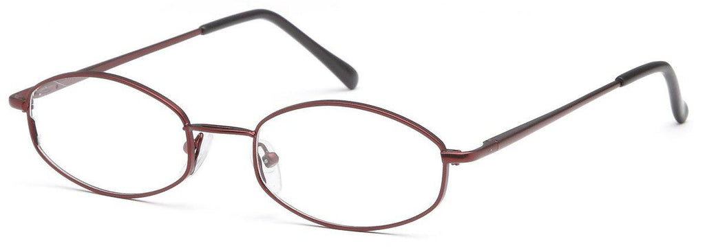 Burgundy-Classic Oval PT 7710 Frame-Prescription Glasses-Eyeglass Factory Outlet