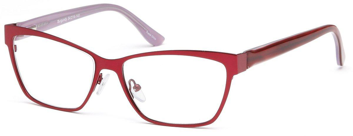 Burgundy-Funky Square DC 113 Frame-Prescription Glasses-Eyeglass Factory Outlet